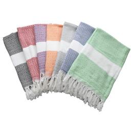 Towels linens en Ligne-Sports de plein air Châle Natation Plaine Glands Couleur Serviette De Plage Dinde Coton Et Lin Vert Rose Tapis De Yoga 23 5spD1