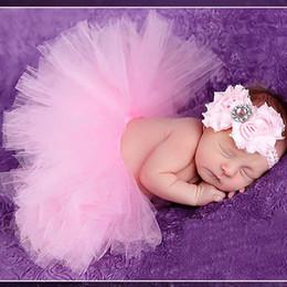 neugeborenes blumenkostüm Rabatt Baby Mädchen Blume Stirnband Engel Rock Tutu Set Foto Schießen Kostüm Requisiten Für Neugeborene Fotografie Requisiten Retro