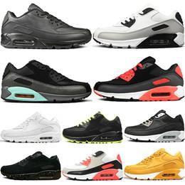 the best attitude c6bf2 f3621 Männer Sneakers Schuhe Classic 90 Männer und Frauen Laufschuhe Sport Trainer  90S Kissen Oberfläche Atmungsaktive Sportschuhe 36-45