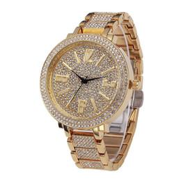 2019 designer prata diamante senhoras assistir Relógios de luxo Das Mulheres Diamantes Relógios Pulseira Senhoras Designer Relógios de Pulso Relógio de Prata À Prova D 'Água de Ouro Cores Frete Grátis designer prata diamante senhoras assistir barato