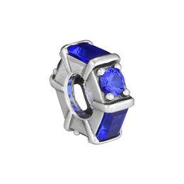 cristais espaciais Desconto Novo 925 Sterling Silver Bead Charme Azul Ice Sculpture Com Cristal Espaço Beads Fit Pandora Pulseira Diy Jóias