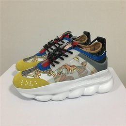 Argentina 2019 ACE Chain Reaction Designer zapatillas Sport Fashion verde blanco rojo amarillo Muti colores Mix Casual zapatos ligeros Link-Embosse Suministro