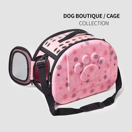 2019 kunststoffträger Haustierträger Für Hunde Katze Faltkäfig Faltkiste Handtasche Kunststoff Tragetaschen Heimtierbedarf Transport günstig kunststoffträger