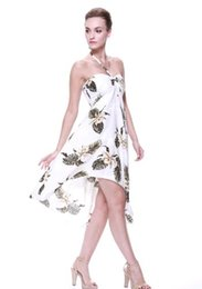 2019 robes tropicales Robe papillon hawaïen pour femmes du groupe tropical promotion robes tropicales