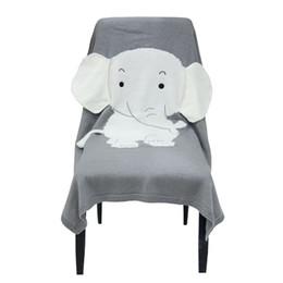 Cobertores de elefantes on-line-70 * 110 cm Elefante cobertor 3D cobertores de orelha crianças cobertores de malha INS venda quente praia mat bebê recém-nascido crianças cobertor