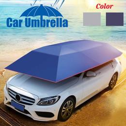 cubiertas de carpa Rebajas Totalmente automático / semiautomático 400x210cm Carpa exterior para vehículo Car Car Umbrella Sun Shade Cover Oxford Cloth Polyester Covers