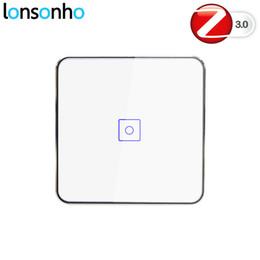 Automazione di illuminazione online-Lonsonho Smart Zigbee Dimmer Switch EU 1 2 3 Gang Telecomando senza fili a parete Touch Panel Interruttore della luce Smart Home Automation