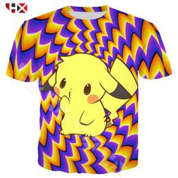 e54c9abf HX 3D Print Harajuku Funny Pikachu Men T Shirt Short Sleeve Summer Cute Pikachu  T Shirt Men women Streetwear Tops HX759