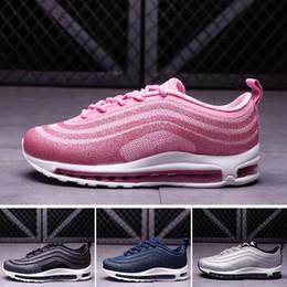 2019 purpurina zapatos bebé niña Kids Air LX Glitter Silver Pink Blue Black baby Niños Zapatillas de deporte niños niñas Entrenadores ul17 de alta calidad Zapatillas deportivas Tamaño 28-35 purpurina zapatos bebé niña baratos