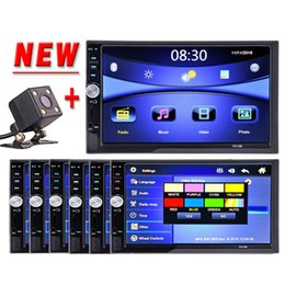 vídeos chineses Desconto Carro dvd HOT 2 Din Car Multimedia Player HD Bluetooth Rádio Estéreo FM MP4 MP5 Áudio Vídeo USB AUX Auto Eletrônica No Traço 2din Autoradio