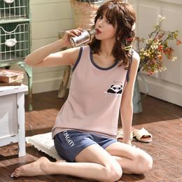 bb76b88fa Pijamas para mujer 100% algodón Pijamas de manga corta femme Cartoon Print  2019 Pijama Set Ropa de dormir Mujeres Sexy Summer Homewear