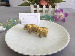 Titulaire de la carte Hot Golden Lucky Elephant Place Titulaires Nom Number Table Place Wedding Favor Cadeau Unique Party Favors ? partir de fabricateur