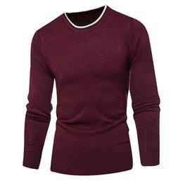 2019 lana pura per la lavorazione a maglia Maglione di pullover maglione a maglia da uomo in lana autunno inverno caldo casual in puro pullover maglione invernale da uomo lana pura per la lavorazione a maglia economici