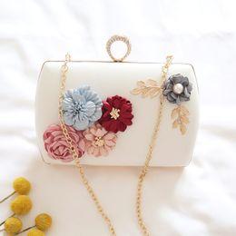 64b094b15939 ETAILL Luxury Handmade Pearl Flower Evening Bag Women Fashion Clutch Bags  Weeding Party Bridal Small Shoulder Bag with Chain