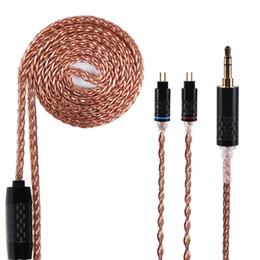 Canada Câble en cuivre à monocristal MissAudio Yinyoo 8 Core 7N Câble symétrique d'importation de Taiwan 2.5 / 3.5 / 4.4mm avec connecteur MMCX pour HQ10 cheap taiwan crystals Offre