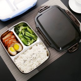 2019 acqua bollita Contenitori di alimenti Microwavable portatili dell'acciaio inossidabile del contenitore di pranzo dell'acciaio inossidabile di Micck con gli scomparti che isolano l'acqua di acqua T8190705 acqua bollita economici