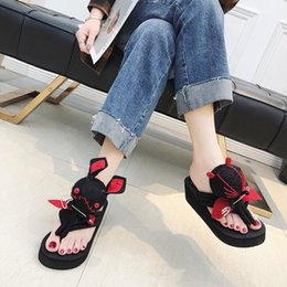 beach doll Coupons - 2019 New Arrival Summer women Flip Flops High Quality Beach Sandals Anti-slip Zapatos Casual Shoes devil doll Cartoon