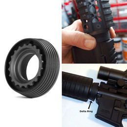ring tactical Promo Codes - Stainless 5.56 M4 Series AEG Airsoft Delta Ring for M16 M4 Tactical Handguard Rail System
