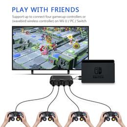 adaptateur cube Promotion Adaptateur de contrôleur GC 3 en 1 de haute qualité pour N-Switch / WiiU / PC 4 Convertisseur de ports de manette de jeu pour convertisseur Nintend avec câble USB