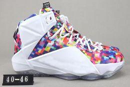lbj elite Rebajas Nike LEBRON XII  LBJ 12Alta calidad atléticos LeBron 12 Elite para niños los zapatos de baloncesto de los hombres Lo que El Negro Blanco oro metálico multi zapatilla de deporte