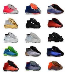 superflys de fútbol Rebajas Jóvenes mercurial superfly V DF SX Neymar FG botas de fútbol Botines de fútbol de tobillo alto Para niños Mujeres Superflys Botas de fútbol Chicos Zapatos de fútbol
