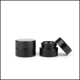 Pots de pots en Ligne-5ml cosmétique bocal en verre noir avec des pots à vis classiques vider le concentré concentrent conteneur usine fournir livraison gratuite