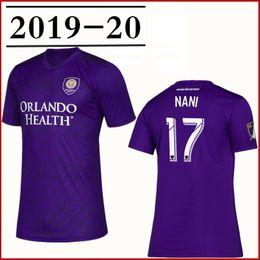 Deutschland 2019 Männer Orlando City SC Nani Lila Fußballtrikot Nani J. Mendez Dwyer Mueller Patino Colman Jungen Fußball Trikot Kinder Trikots cheap purple football kits Versorgung