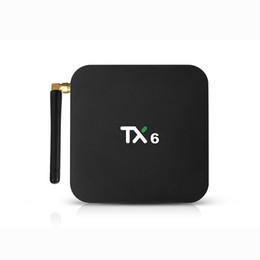 Canada TX6 TV Box Android 9.0 4GB DDR3 32Go Allwinner H6 EMMC 2.4G 5G WiFi Bluetooth 4.1 Prise en charge 4K H.265 HD Décodeur intelligent Offre