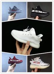 Adidas yeezy supreme 350 Bebé Niños Zapatillas Kanye West 350 Zapatillas de running V2 Niños Zapatillas deportivas Niños Niñas Beluga 2.0 Zapatillas Negro Rojo desde fabricantes