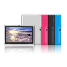 tableta china teléfono sim Rebajas barata tableta de 7 pulgadas tablet PC Quad Core A33 Allwinner androide 4.4 capacitiva de 1,5 GHz 512 MB de RAM de 4 GB ROM de doble cámara de MQ20