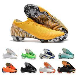 Zapatos cr7 superfly talla 39 online-Mercurial Superfly VII Soccer VaporX 12 6 Club CR7 Cristiano Ronaldo Calzado Hombres Generación TF IC Calzas de fútbol ACC Zapatos de fútbol Tamaño 39-46