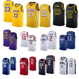 Camisas de basquete paul george on-line-2020 NCAA Mens LeBron James 23 Jersey James Harden 13 2 Leonard Paul 13 George College Basketball Jerseys