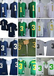 Combattendo il calcio irlandese online-Men # 3 Joe Montana Blu navy Bianco Verde 1 Louis Nix III Norte Dame Fighting Irish College di calcio maglie formato S-3XL