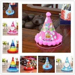 Yeni Varış Mutlu Doğum Günü Partisi Şapka DIY Sevimli El Yapımı Nokta Şerit Kap Bebek Yeni Yıl Yetişkin Dekorasyon Oğlan Kız hediyeler nereden