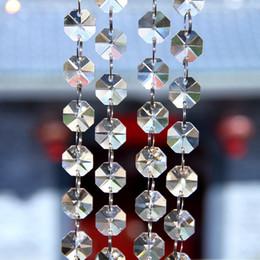 Lustre de cristal k9 on-line-100 metro K9 cristal de vidro transparente frisado guirlanda lustre vertente partido evento do casamento DIY pendurado decoração da árvore de Natal decoração lustre