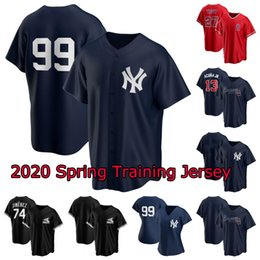 Mike truta beisebol jérseis on-line-2020 Spring Training Baseball Jersey 99 Aaron Judge 27 Mike Trout 13 Ronald Acuna Jr. JR 74 Eloy Jimenez Para Womens Juventude Mens