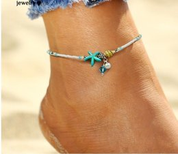 7704c341b97 Shell Anklet pearl Beads Starfish Anklets For Women 2017 Fashion Vintage  Handmade barefoot Sandal Statement Bracelet Foot Boho Jewelry