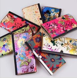 carteras de brocado Rebajas 10 * 19 cm monedero de satén de seda tradicional chino, bolso de la tendencia de la moda caliente bordado único billetera, color mezclado envío gratis