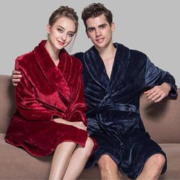 b50399dfae Wholesale-Pop Selling Lovers Soft As Silk Winter Warm Bathrobe Men Long  Kimono Bath Robe Femme Robes Mens Dressing Gown For Male Bathrobes