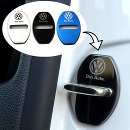 Volkswagen YYD 4 UNIDS Cerradura de la Puerta de Acero Inoxidable Cubierta del Delantero Cubierta del Delantero para Volkswagen Das Auto Tiguan Santana Sagitar CC Passat