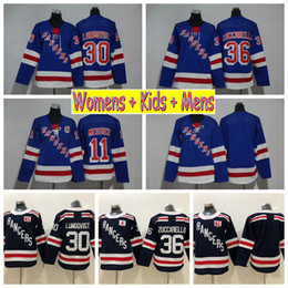 1274360aa 2018 Ladies New York Rangers Hockey Jerseys 30 Henrik Lundqvist 36 Mats  Zuccarello 11 Mark Messier Kids Womens Mens Stitched Hockey Shirts