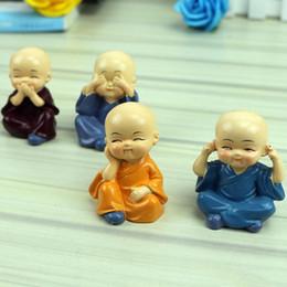 Figurine de moines miniatures Bonsaï Décor Mini Fée Jardin personnage de dessin animé personnage figurines statue Modèle anima Résine ornements 4-5 cm enfants jouets ? partir de fabricateur