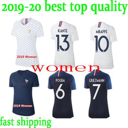 e5e773148 2018 2019 New france women Soccer Jersey World Cup 19 20 franch home away  football Female shirts s-xl