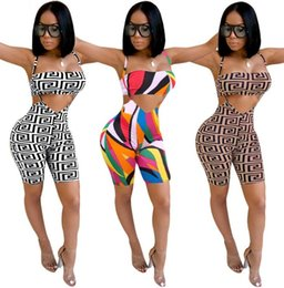 Jumper tubo online-Womens Summer 2 pezzi Outfit Tube Club Party Crop Top e pantaloncini aderenti Pantaloni Sexy Club tuta Set pantalone tuta sexy