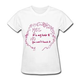 Das natürliche Haar kann es nicht berühren Das T-Shirt der Frauen lustiges T-Shirt Frauen-Hippie-Baumwollbeiläufige Oberseiten-T-Shirts, die Großverkauf kleiden von Fabrikanten