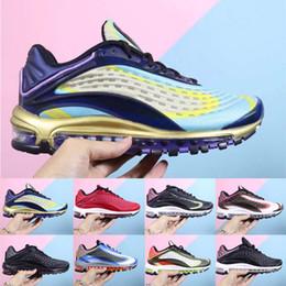 aire de lujo Rebajas Deluxe 99 Zapatos para correr Diseñador 3M Refleja Midnight Black Air Ocio Deportes Hombres mujeres 99 Entrenadores 36-45