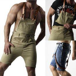 Ropa De Hombre Cargo Overalls Pants Pockets Knee Length Slim Pant Casual Men  Pants Cargo Men Streetwear Hole shorts Jeans cf4621b74