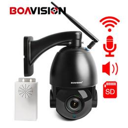 2019 lautsprecher optisch HD 1080P WIFI PTZ Dome IP-Kamera 20X optischer Zoom drahtlose CCTV-Kamera Onvif Zwei-Wege-Audio mit Lautsprecher Überwachungskameras günstig lautsprecher optisch