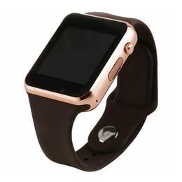 2019 женские спортивные часы шагомер A1 WristWatch Bluetooth Smart Watch Спортивный шагомер с SIM-камерой SmartWatch для Android ПК iwo 8 DZ09 часы мужчины дети женщины дешево женские спортивные часы шагомер