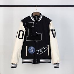 Giacca Mens di disegno classico di modo di lusso uniforme giacche da baseball Mens del cappotto di marca Lettera ricamo Spesso Windbreaker di formato